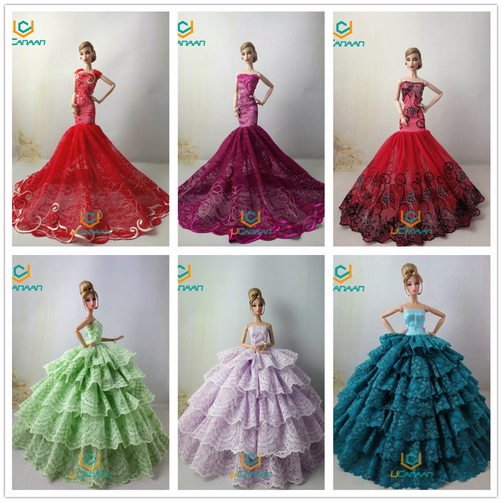 Not Comprise Doll ! Ucanaan 15 Fashions Fishtail Wedding ceremony Get together Costume For Barbie Doll Restricted Assortment Elegant Handmade Costume Reward