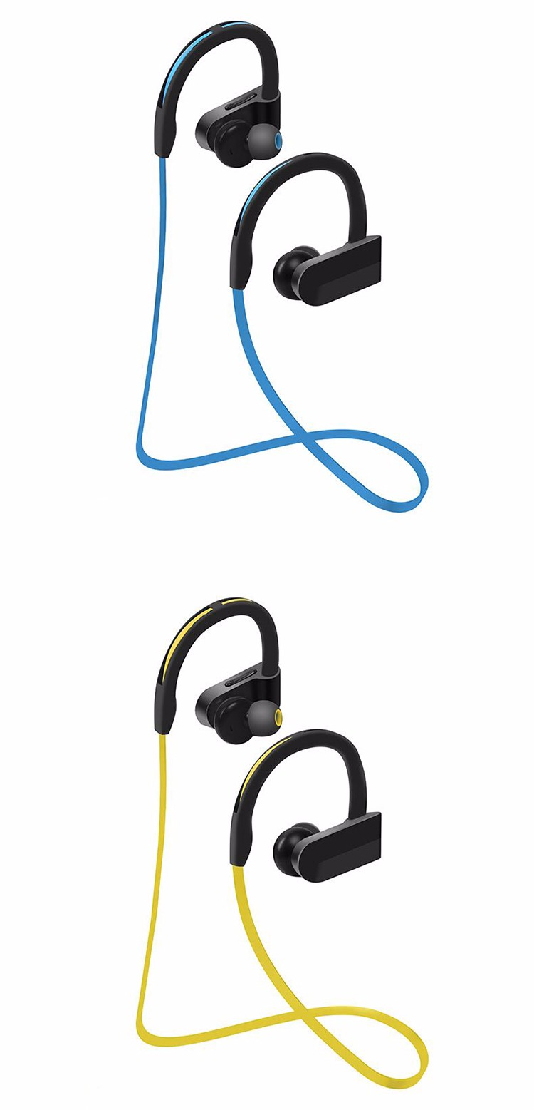 4.1 Bluetooth Headset Wireless Earphone Earpiece Sport Running Stereo Earbuds With Microphone In-Ear Noise Reduction