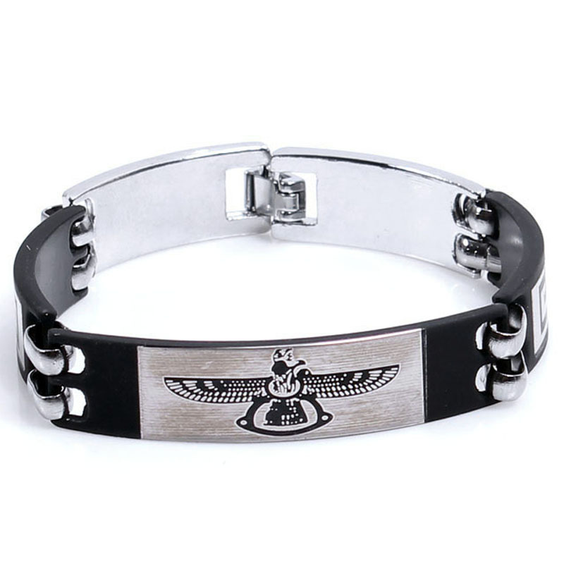 Korean version of Eagle wings jewelry titanium steel bracelet titanium steel men jewelry wholesale jewelry manufacturers(China (Mainland))