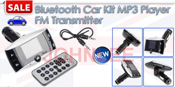 1.4 inch A2DP Bluetooth Handsfree Car Kit FM transmitter Modulator Car mp3 With Remote control(China (Mainland))