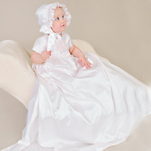 Christening Baptism Dress Baby Girls Long Appliques Holy Frocks Embroidered Gowns Infant 0-2 Years - Kity maky store