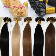 1g/s Brazilian Remy Human Hair Nail U Tip Pre Bonded Keratin Hair Extension Fusion Hair 50strands 18″20″22″24″ 45cm50cm55cm60cm