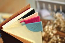 Free Shipping High Quality PU Leather Colorful Book Corner Protector Mini Cute (1 Lot=4 Pieces) Book Mark Clips Bookmarks(China (Mainland))