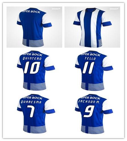 Top Thai Quality Jackson m. QUINTERO QUAERSMA TELLO 15/16 Porto FC jersey Soccer Jersey HOME 15/16 Football shirts(China (Mainland))