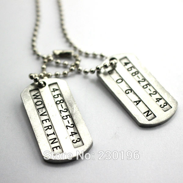 wolverine forma collana x - men wolverine collana dog tag necklace<br><br>Aliexpress