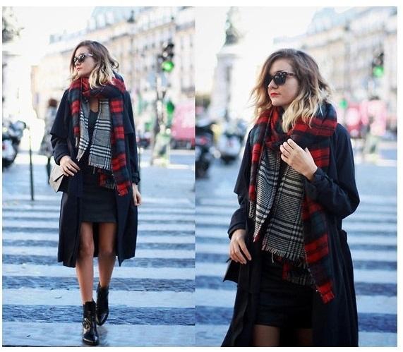 New 180*55CM Thicken Women Winter Scarf Shawls And Scarves Pashmina Brand Plaid Large Blanket Scarf echarpe La bufanda #7087(China (Mainland))
