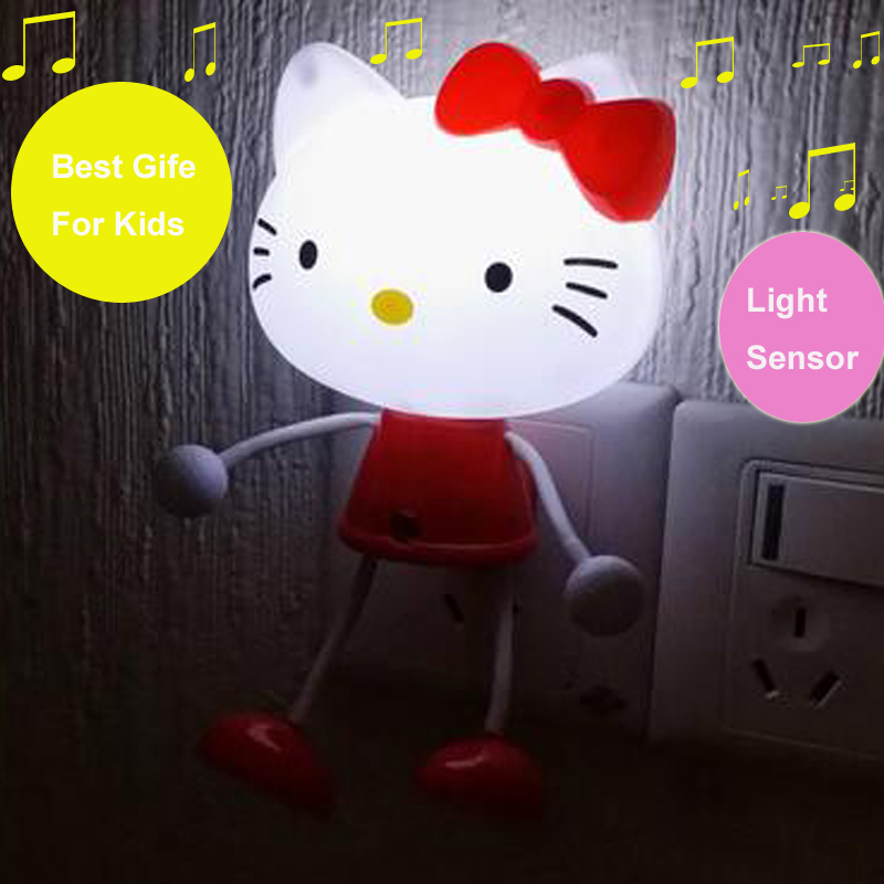 Led night lights children kids light control us plug bedroom photoreceptor sensor animal night - Plug in nightlights for toddlers ...