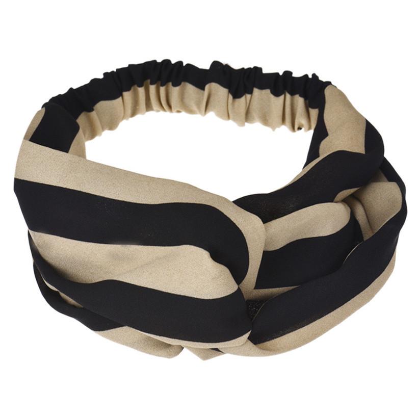 Newly Design Women Striped Twiss Headbands Fashion Headwraps Party Hair Bands Elastic headwear Aug4(China (Mainland))