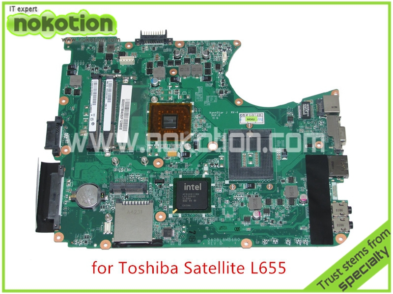 Mainboard A000078940 DA0BL8MB6B0 REV B For toshiba satellite L655 laptop motherboard intel GL40 HD graphics DDR3(China (Mainland))