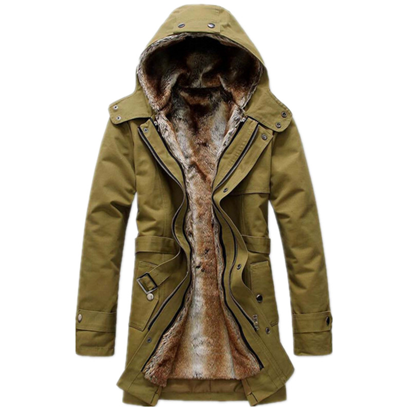 2015 High Quality Fleece Corduroy Wadded Jacket Men Cotton Filling Thickening Wadded Coat Jacket Military Parka