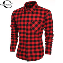 COOFANDY Hot  Fashion Men's Casual Long Sleeve Male Plaid Shirts Social Camisa Masculina W1(China (Mainland))