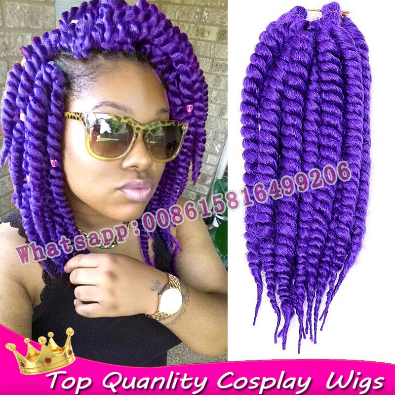Crochet Braids Jumbo Twist Hair : Jumbo purple Crochet Hair Extension Crochet Havana Mambo Twist ...