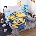 Home Textile Cartoon Minions Blanket for Kids Gift Hello Kitty Doraemon Stitch Coral Fleece Blanket Throw