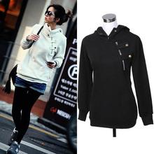Hot femmes coréennes pull avec capuche Casual manteau hauts Sweatshirts S M L XL pour livraison gratuite(China (Mainland))
