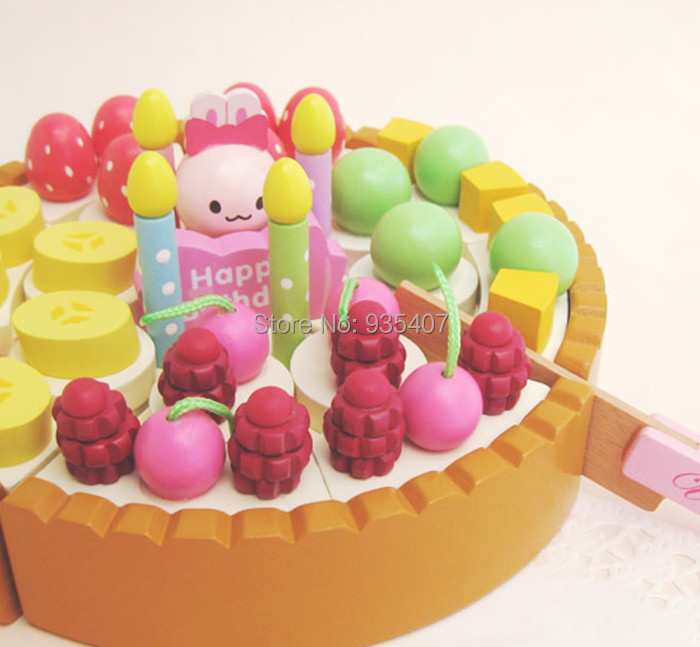 Фотография New Wooden mother garden cake + choppers kithcn toy set Free shipping