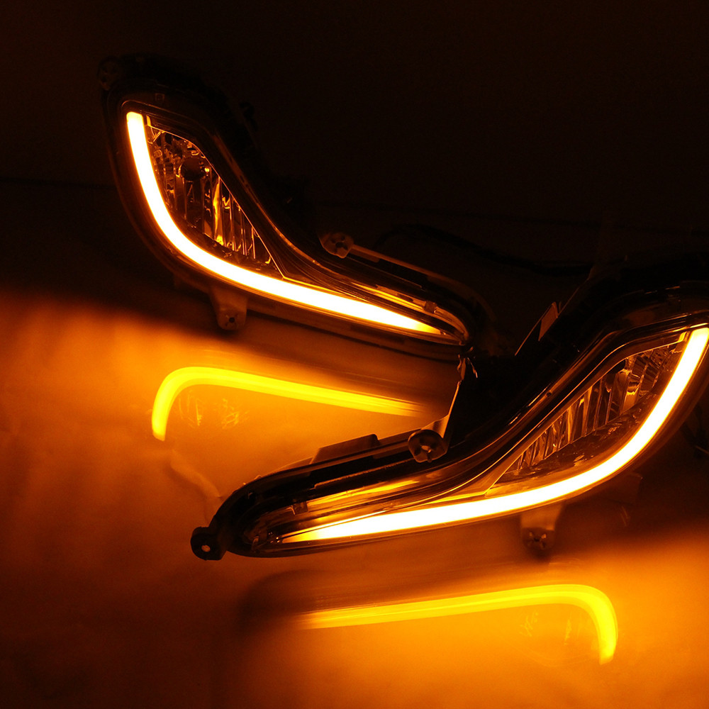 Car DRL kit For Hyundai Accent 2012 2013 LED Daytime Running Light Bar Super bright fog lamp bulb cree car led drl light 12V