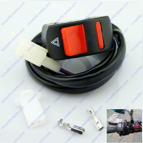 Universal Motorcycle 2 wire 7/8'' Handlebar emergency Light Switch ON/OFF Button - Most Economic shop store