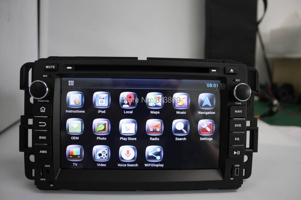 """Pure Android 4.2 HD 2 din 7"""" Car PC for GMC Yukon Tahoe 2007-2012 With 3G/WIFI BT IPOD CPU: Cortex A9 dual-core RAM: 1GB DDR3(China (Mainland))"""