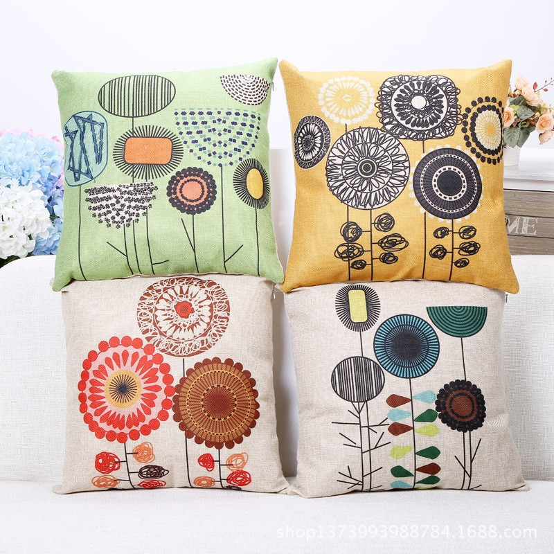 Decorative Pillows Without Covers : Decorative-throw-pillows-with-sunflower-pillow-cushion-pillowcases-without-core-throw-pillow ...