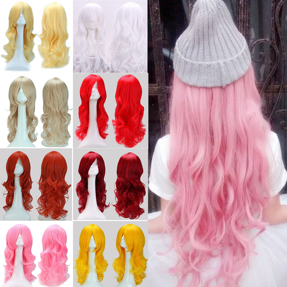 "Hot Sale !!! 2016 New Style Cosplay Wig 24"" 60cm Long Curly Heat Resistant Japanese Anime Hair Full Wigs Costume Fancy Dress(China (Mainland))"