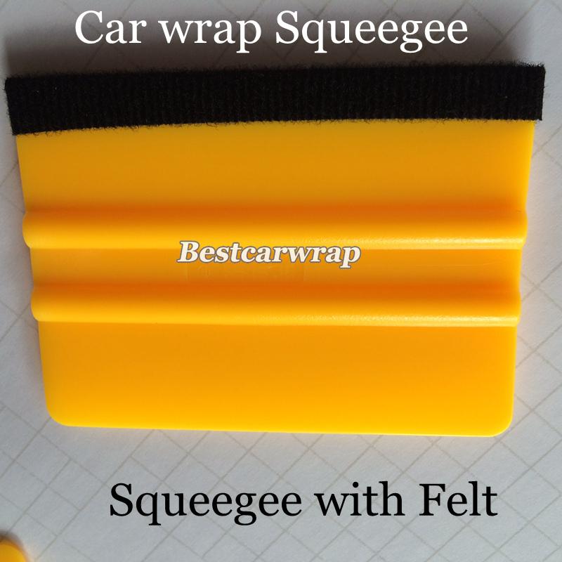 Pro Car Wrap Felt Squeegee Vehicle Window Vinyl Film Car Wrap Applicator Tools Scraper Kit 100pcs/Lots Free shipping(China (Mainland))