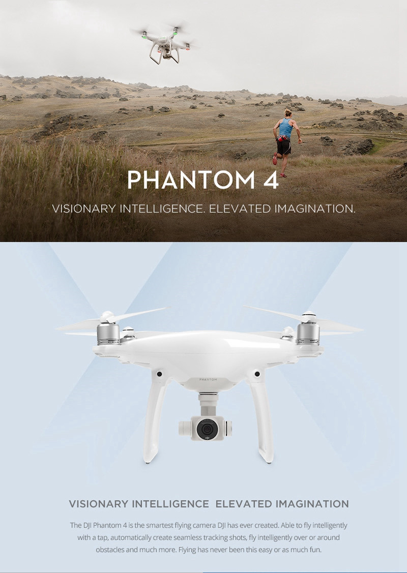 New Arrival DJI Phantom 4 With 4K HD Camera Avoid Obstacles Automatically RC Quadcopter RTF