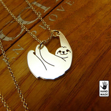 1Pcs Handmade Sloth Necklace Pendant Collares Mujer Plated Gold Silver Animal Chain Dropshipping Jewellery Accessories For Gift(China (Mainland))