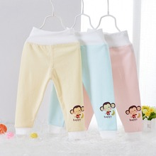 2015 Autumn Children Clothing Baby Babi Kids Boys Girls Infant Print Monkey Keep Warm High Waist Long Pants MT288