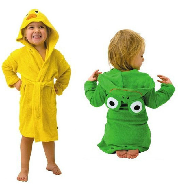 hot sell new design Terry Bathrobe - Hoodie/Hoody Costume Bath Towel Baby Robe - Kids Robes  Baby Cartoon Hooded 3pcs/lot