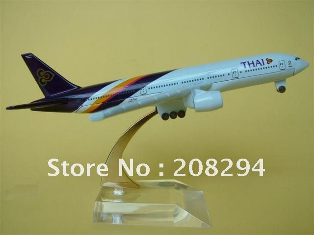 Free Shipping B747-400 Thailand Airlines,metal airplane models,airplane model, airbus prototype machine