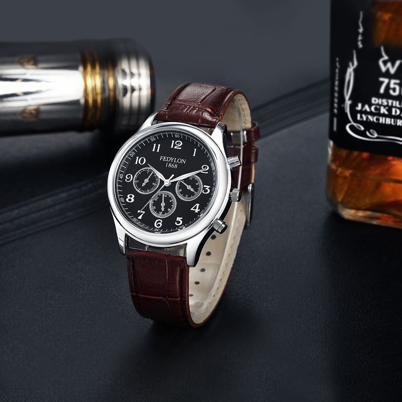 fashion casual mens high quality leather business