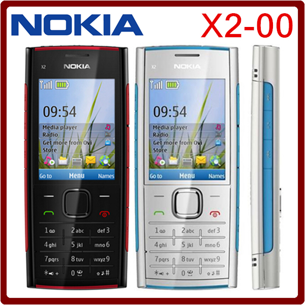X2 Original Nokia X2-00 Bluetooth FM JAVA 5MP Unlocked Mobile Phone Hot selling in Poland Free shipping(China (Mainland))