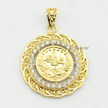 1pcs Men/Women Pendant Chains Jewelry New 18K Yellow Gold Filled Coin Necklace(China (Mainland))