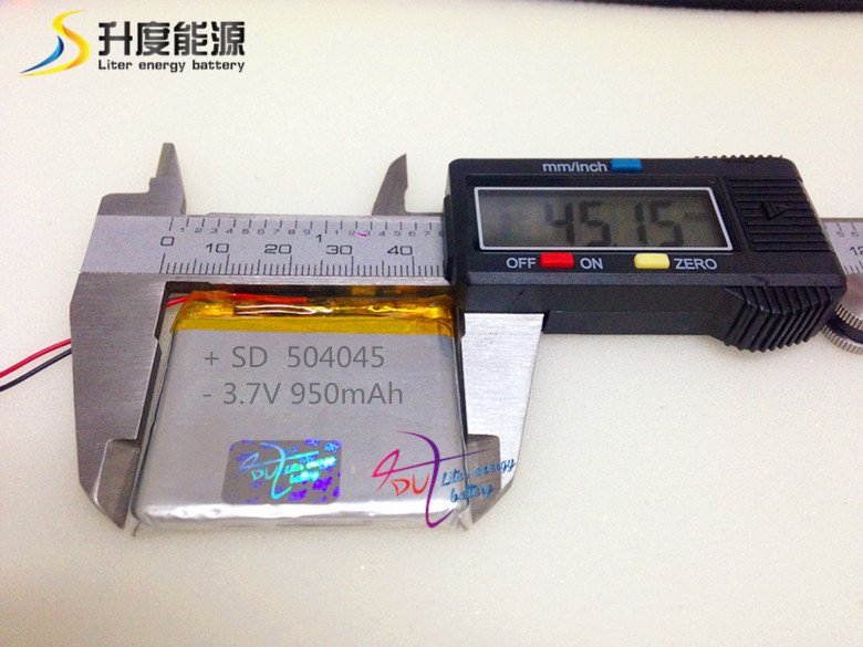 Rechargeable best price li-polymer battery SD504045 3.7v 950mah for MP3 , MP4 battery(China (Mainland))