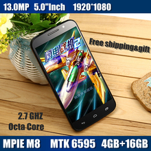 Smartphone  mobile phone M8 MTK6595 Octa Core 5.0″ 1080P IPS 4GB RAM 16GB ROM GPS 13.0MP Camera android 5.0 cell Phones