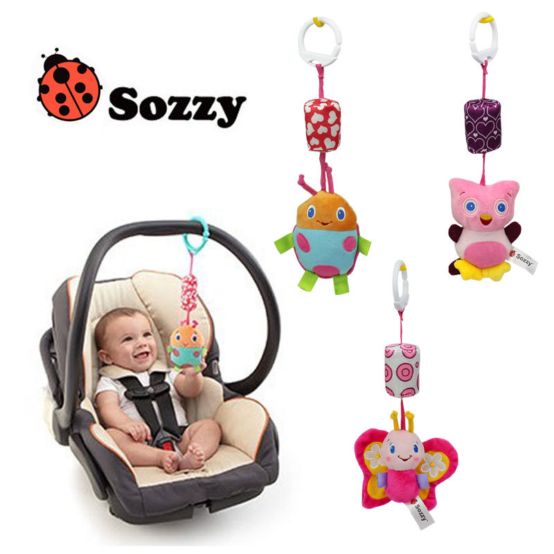 Sozzy Newborn Baby Stroller Toys Butterfly Ladybug Owl Large-sized Wind Chimes Bed Hanging Educational Baby Rattle Toys(China (Mainland))