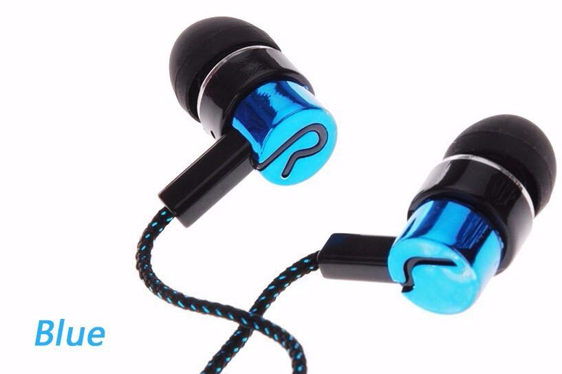 2016 New Fashion Earphones Woven Fabric Cloth Wire Sport Earphone Headset Universal 3.5MM Earphones for xiaomi ml2 s6 iPhone MP3