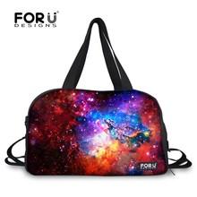 2015 Hot Women Travel Bags 3D Galaxy Printing Luggage Bags Canvas Duffle Bags Waterproof Handbags for Ladies Casual Sports bag(China (Mainland))