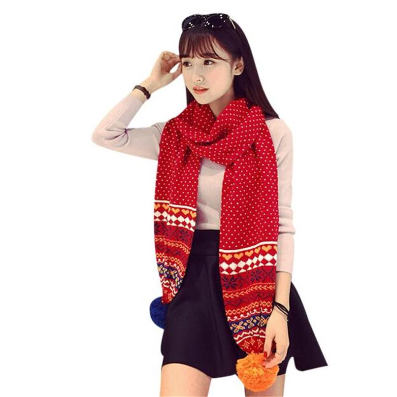 Sanwony 3 Styles Hot Scarf Beautiful Women Warm Snowflake Pattern Knitting Shawl Wrap Wraps Winter Freeshipping(China (Mainland))