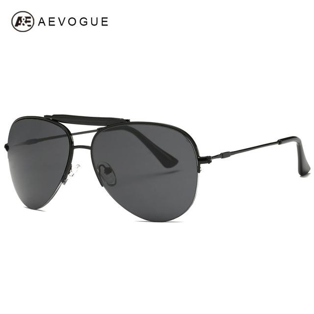 Aevogue людей полуободковые фирменный стиль конструктор с новым свобода унисекс солнечные очки óculos De Sol UV400 AE0320