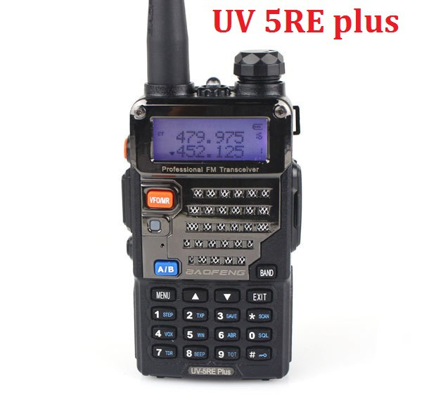 BaoFeng UV-5RE Plus Dual Band Two Way Radio 5W 128CH UHF + VHF FM VOX Dual Display cheap walkie talkie(China (Mainland))