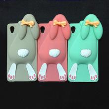3D Cartoon Bunny Back Cover Case Sony Xperia M4 Aqua Dual E2303 E2333 E2353 Rabbit Silicon Gell Phone case - International Fashion Goods Stores store