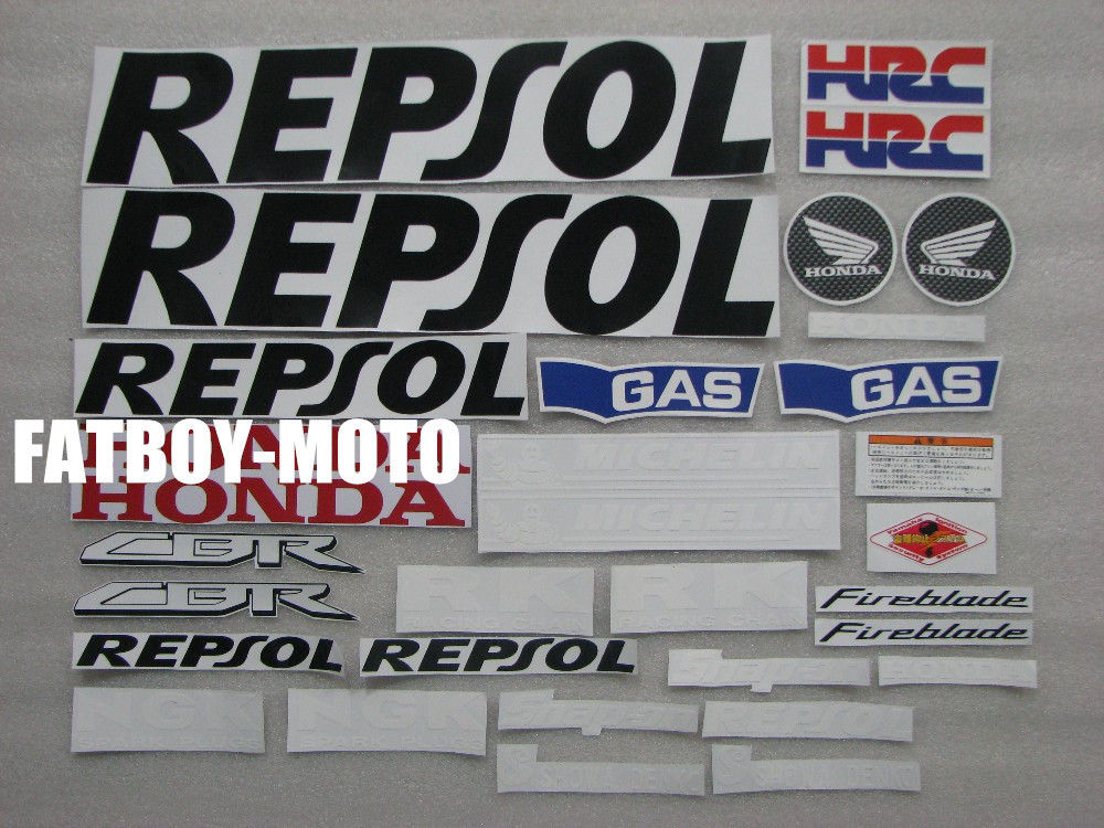 Bike motorcycle 2008 2009 2010 2011 2012 CBR1000RR CBR1000 RR REPSOL decal stickers(China (Mainland))