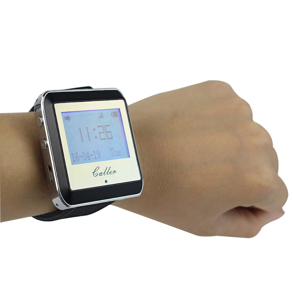 433MHz Wireless Watch Pager Calling Receiver Nurse Waiter Call Pager Calling System Restaurant Equipments F4399A(China (Mainland))