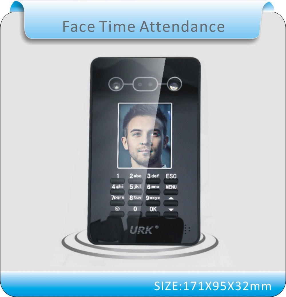 Free shipping Newest U-disk download data Facial Recognition Face Detection Time Recording Attendance System /Free Software()