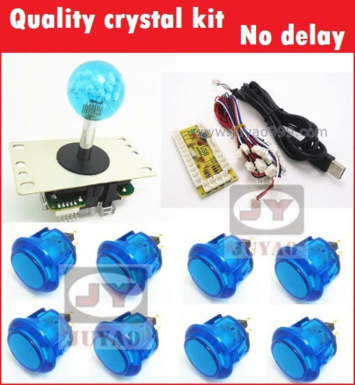 1 kit for PC controller with 35mm crystal top ball joystick and buttons  USB to Jamma arcade games, Multicade Keyboard Encoder<br><br>Aliexpress