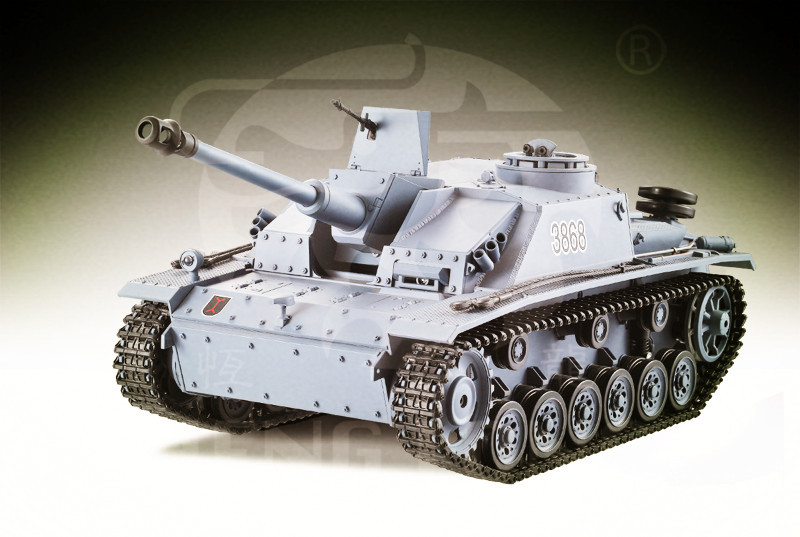 RC/Remote Control Tank HengLong Metal and Plastic 4xChannel Battle Bomb Large Size Germany III F8 assault gun infrared version<br><br>Aliexpress