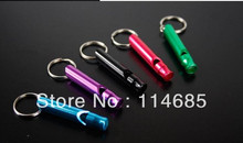 Hiking camping whistle aluminum alloy survival whistle rescue whistle(China (Mainland))