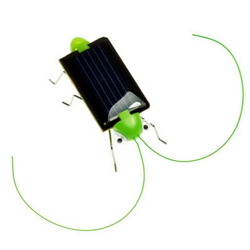 Cheap Mini Solar Grasshopper Toys For Chilren Solar Power Robot DIY Animal Toys(China (Mainland))
