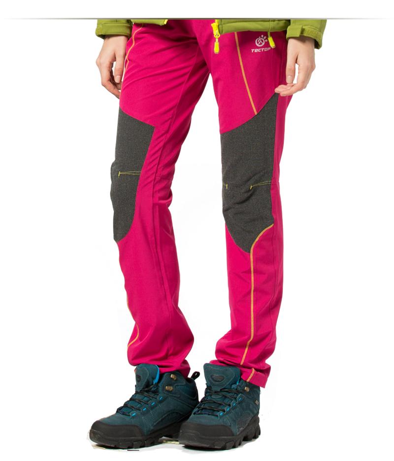 New 2016 Brand Women Softshell Hiking Pants Waterproof Windproof Thermal For Outdoor Hiking Camping Ski Climbing Trekking